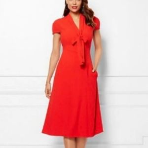 Worn Once Red New York and Company Dress. Front bo